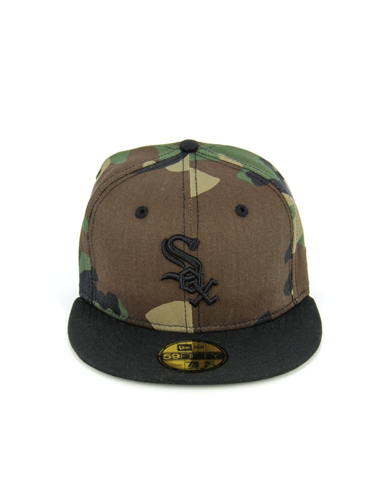 White Sox Fashion Fitted Camo/black