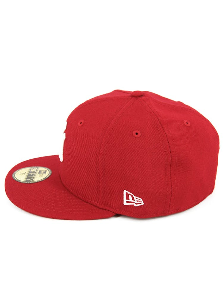 Yankees Fashion Fitted Scarlet/white