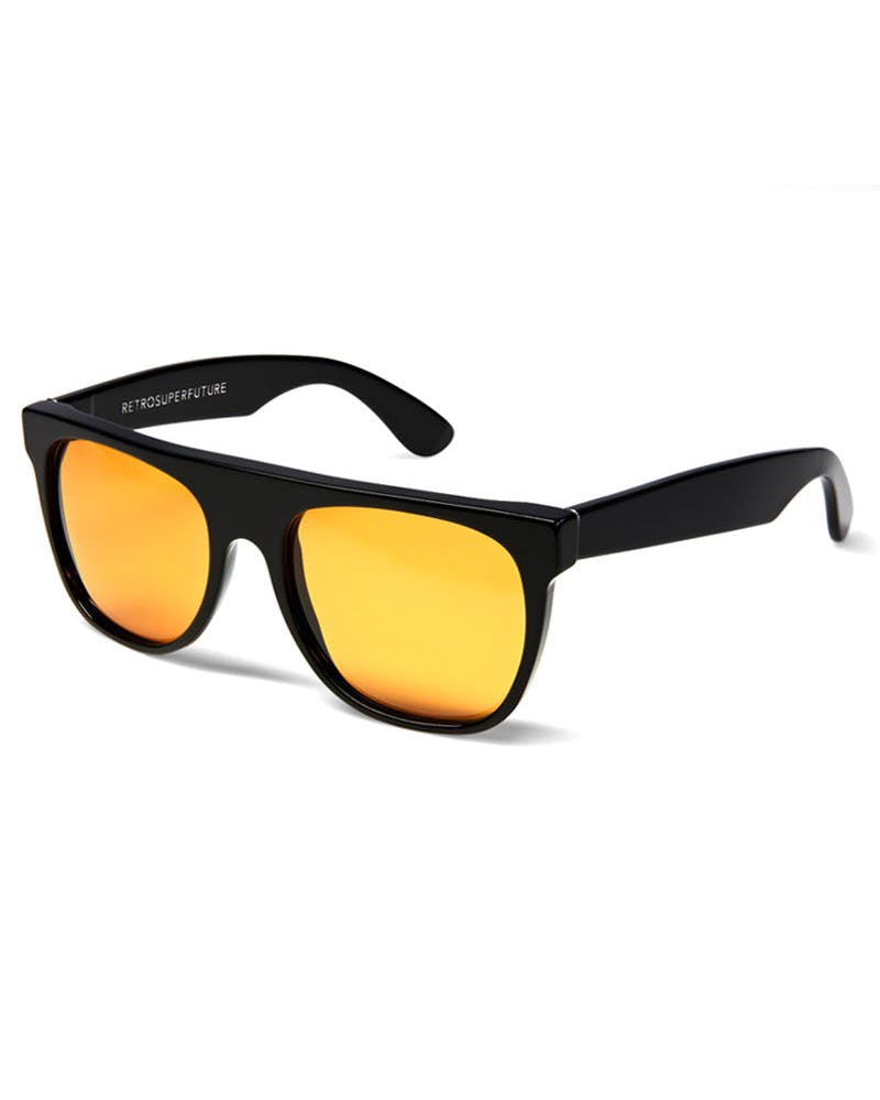 Flat Top Sunglasses Black/Orange