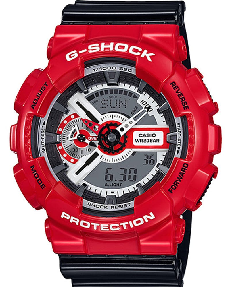 Ga110rd Solid Red Series Red/black