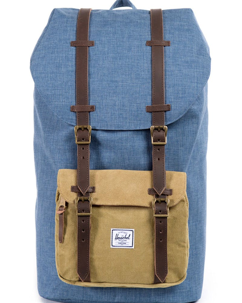 Little America Crosshatch Navy/tan