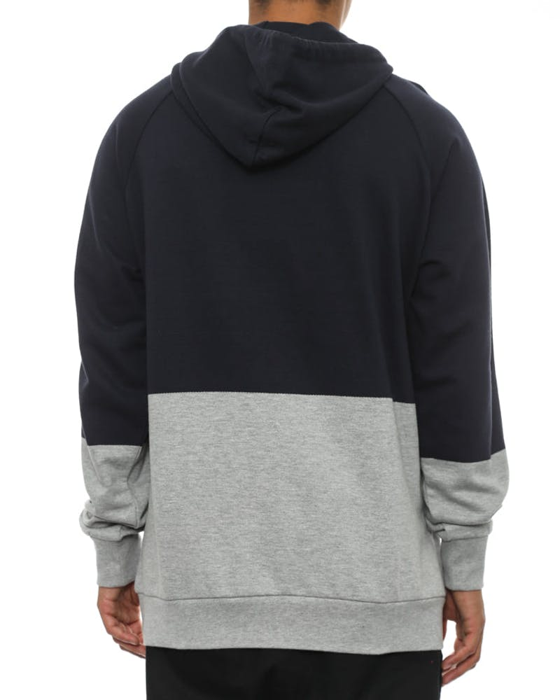 Block Hood Navy/grey