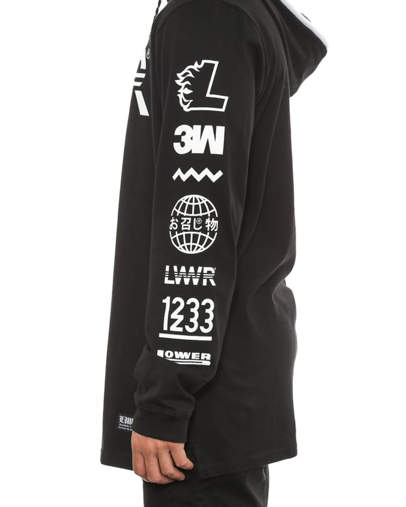 Irving Long Sleeve Tee Listed Black