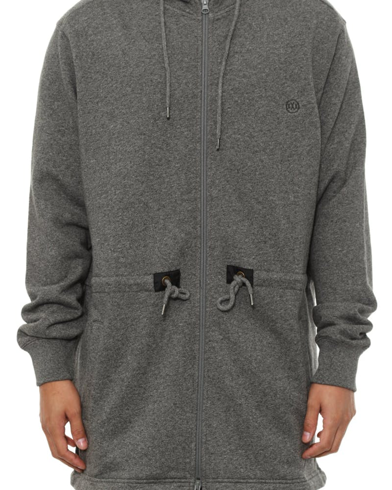 Scooptail Fleece Parka Jacket Grey