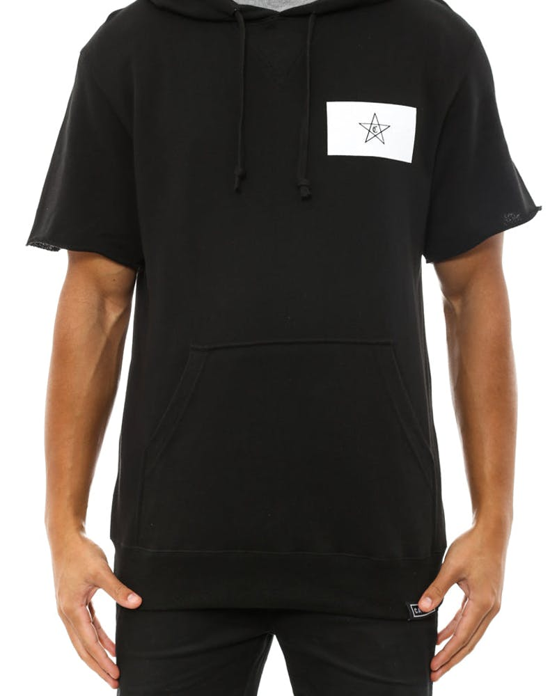 Morocco Short Sleeve Tall Hood Black