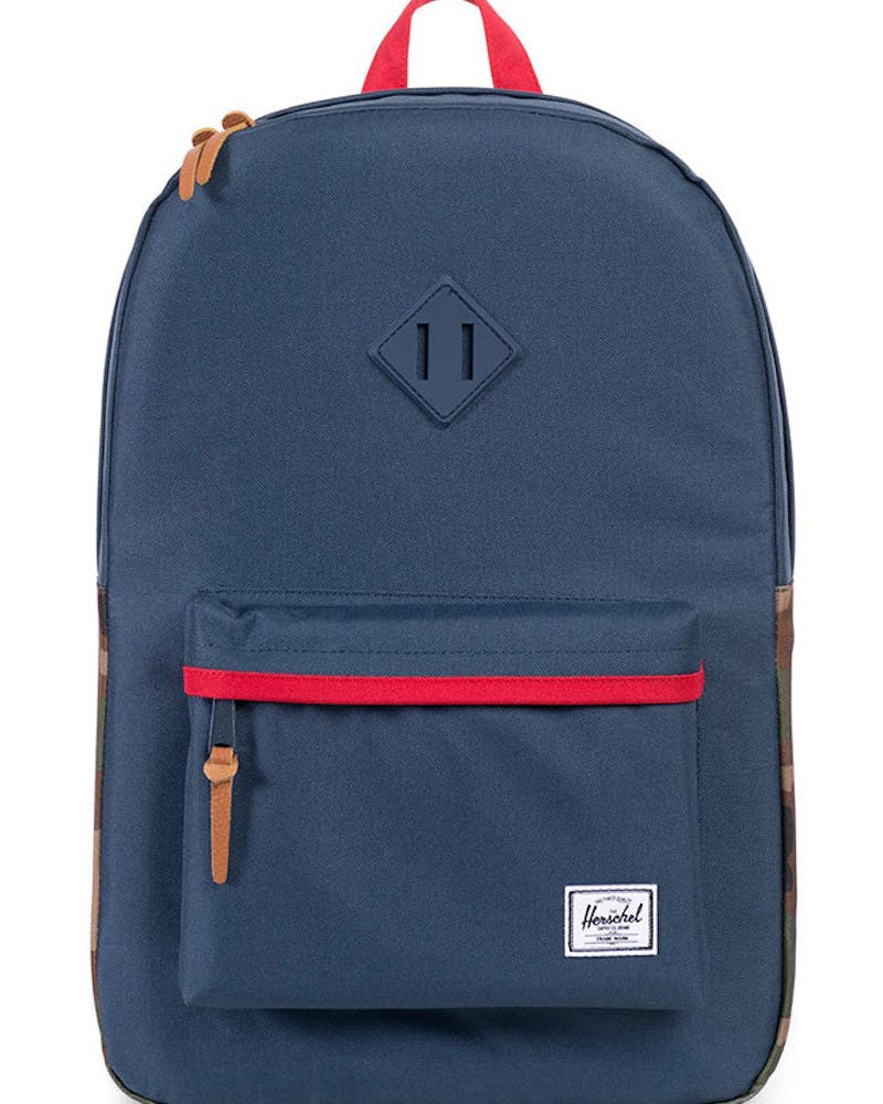 Heritage Rubber Backpack Navy/camo/red