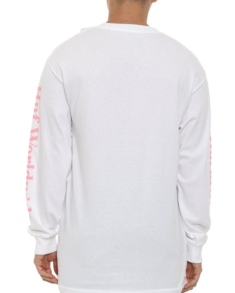 Domestic Long Sleeve Tee White/pink