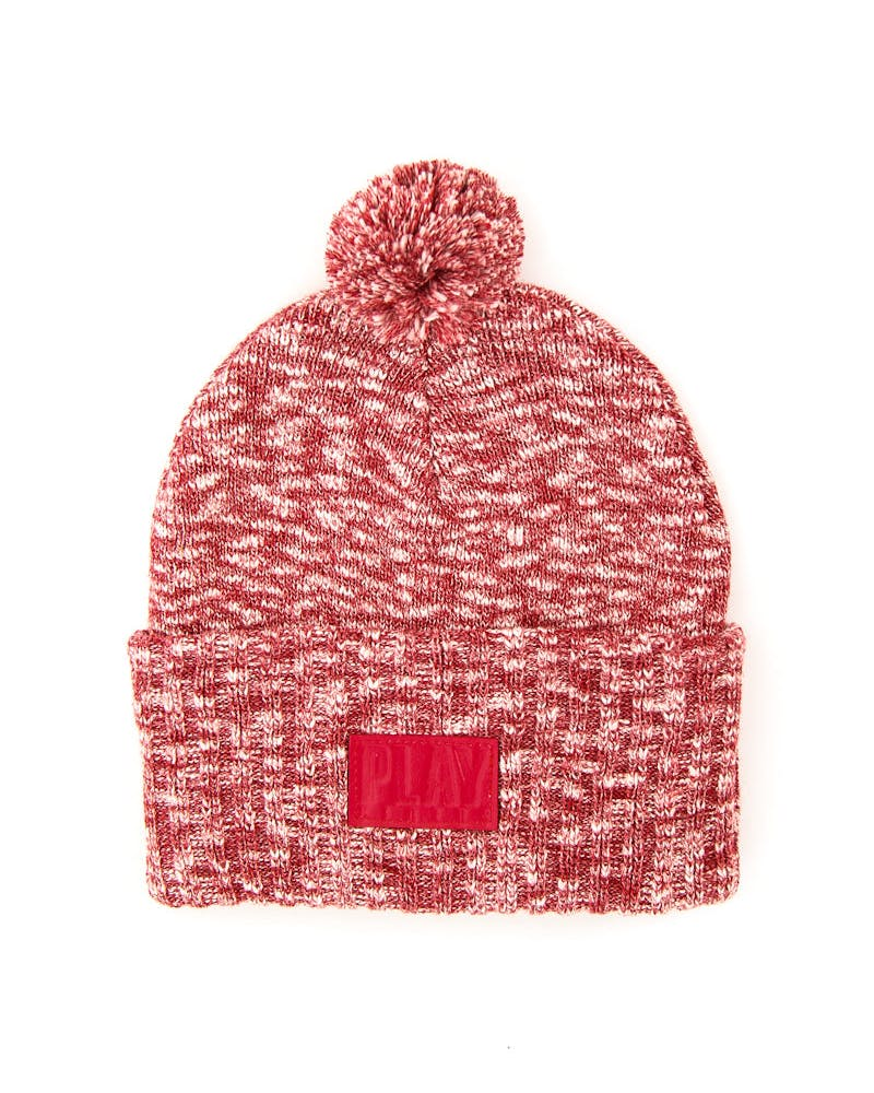 Bull Skully Beanie Red/navy
