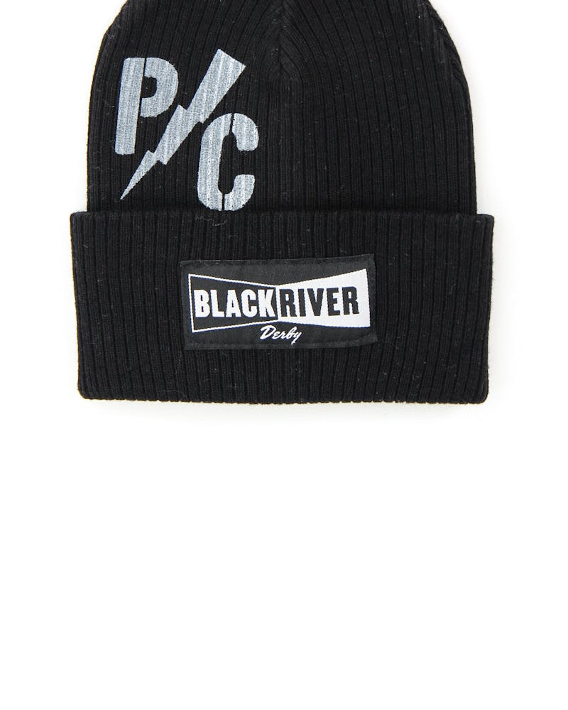 Black River Skully Beanie Black/white