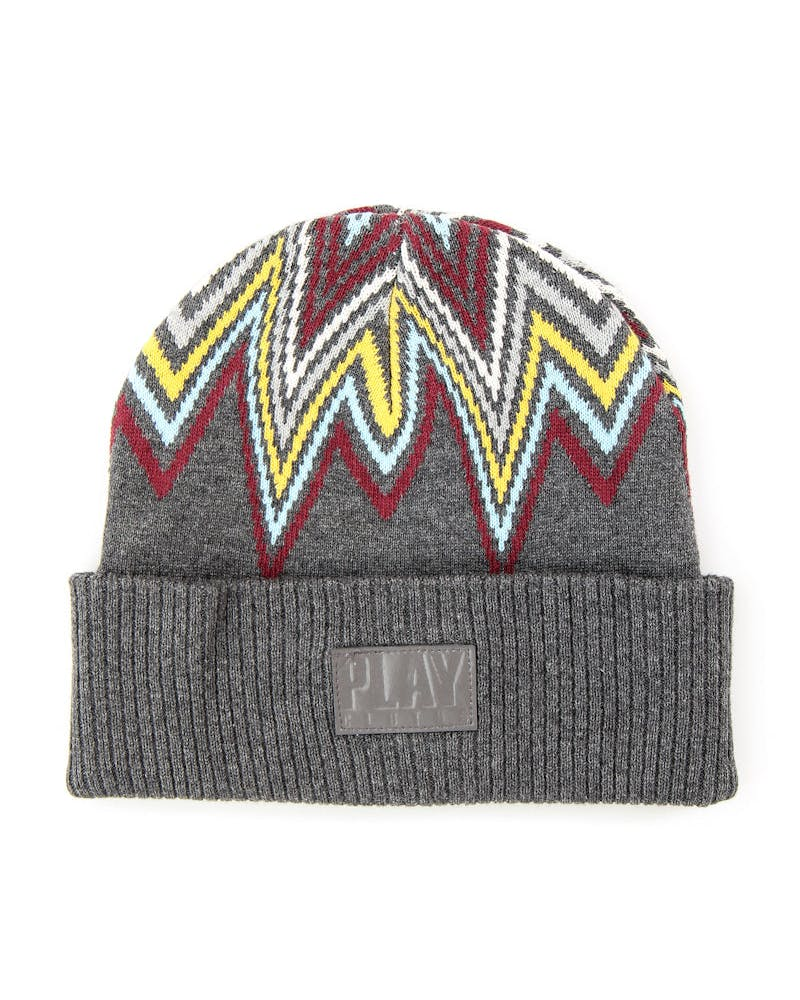 Northern Lights Beanie Grey Heather/bu