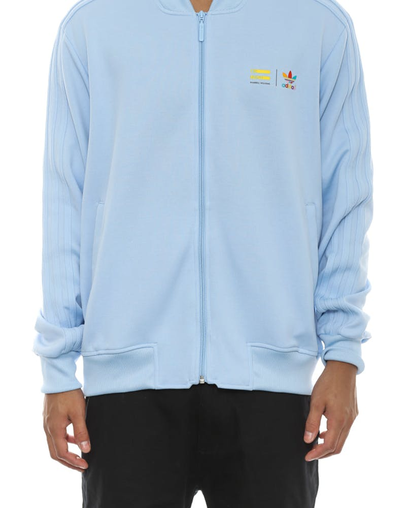 Mono Colour Track Top Blue