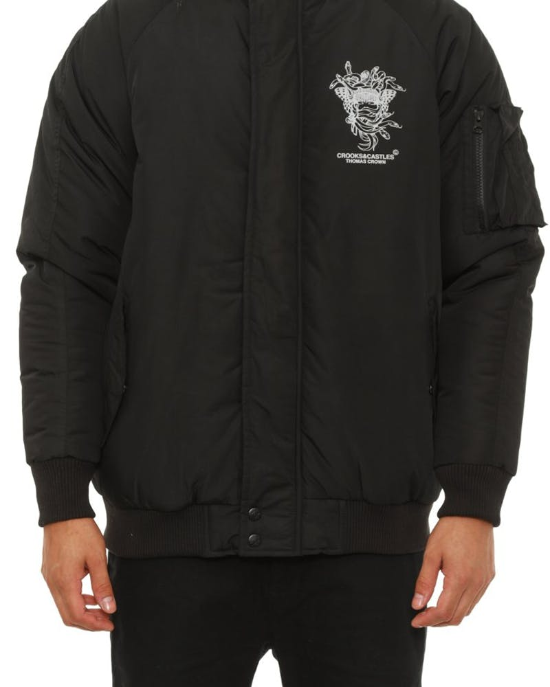 Avalanche Bomber Jacket Black