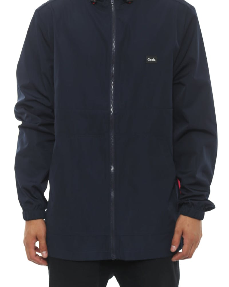 Zip Spray Jacket Navy/red