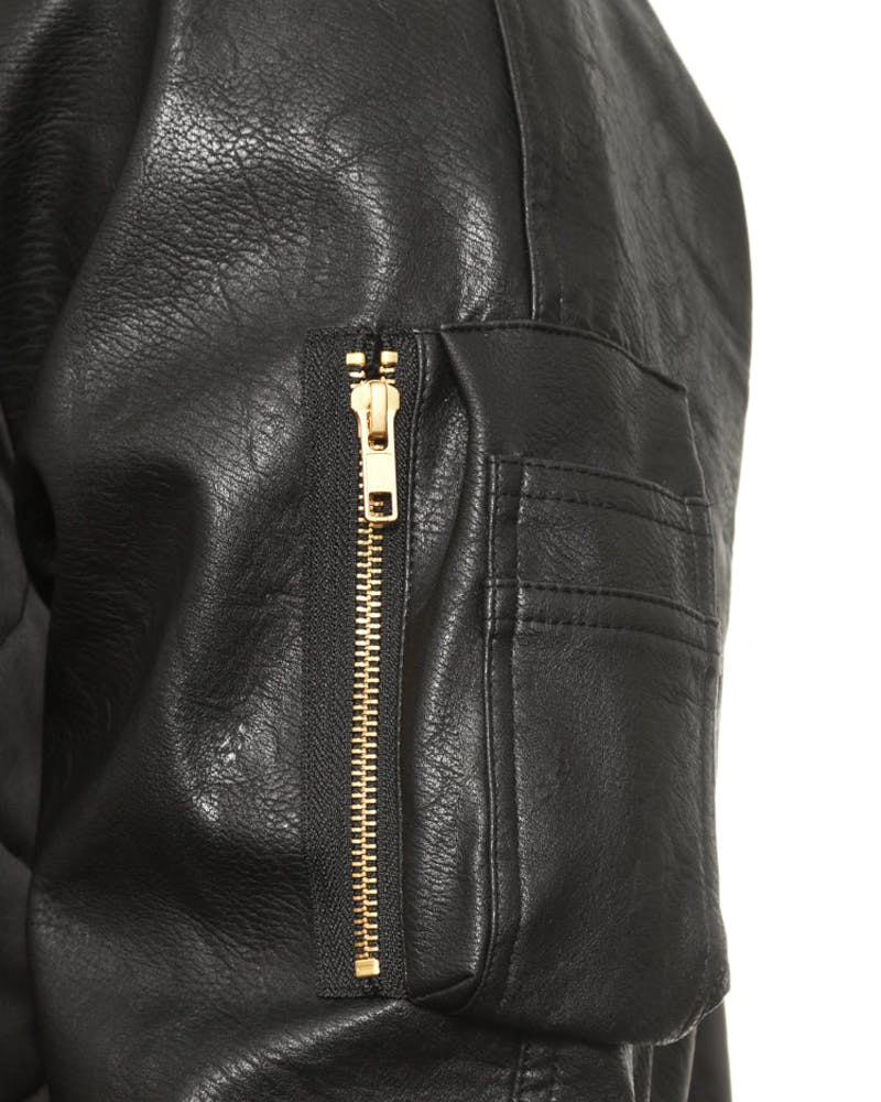 Gunner Bomber Jacket Black