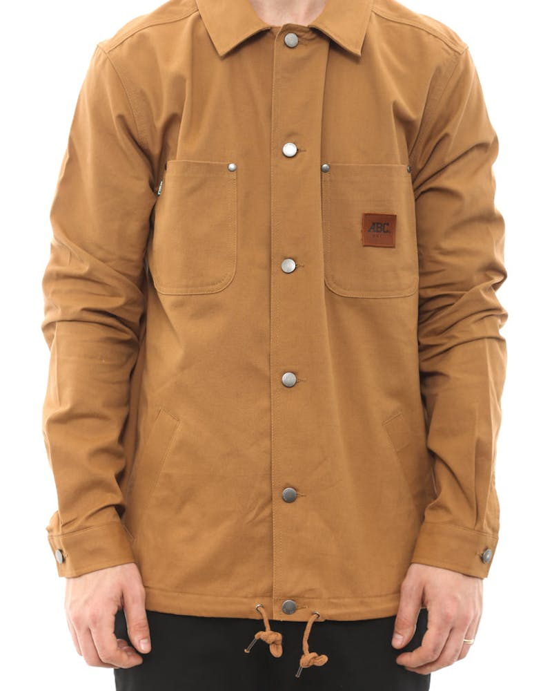 Coaches Drill Jacket Camel
