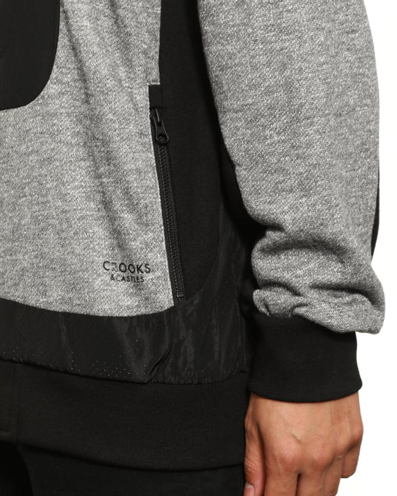 Fugitive Zip Hood Grey/black