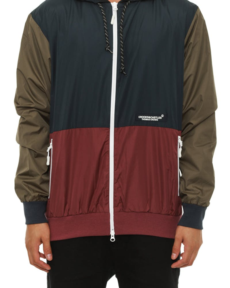 Snellen Windbreaker Navy/green/burg