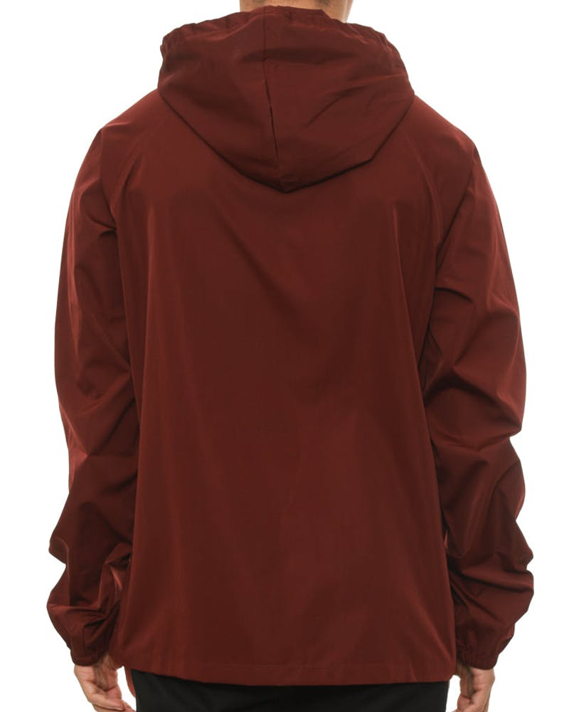 Hooded Shell Jacket Burgundy