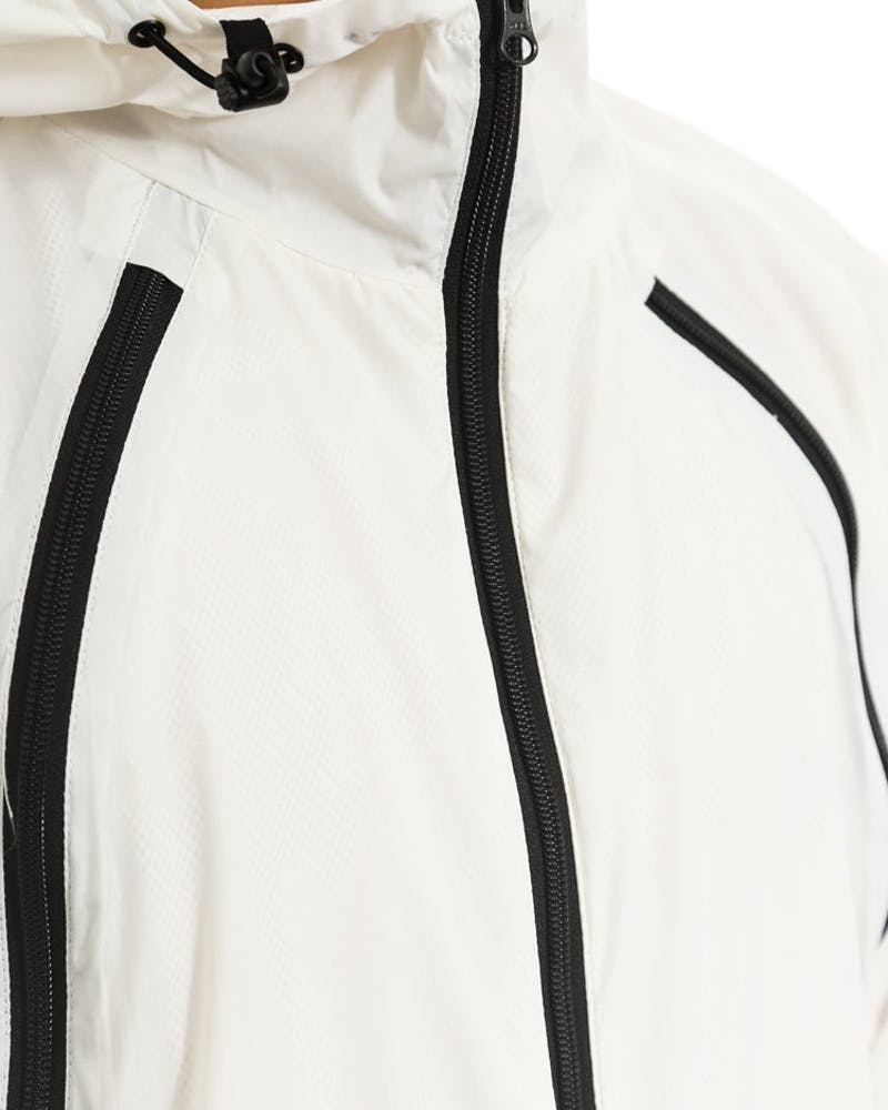 Triple Zip Shell Jacket White