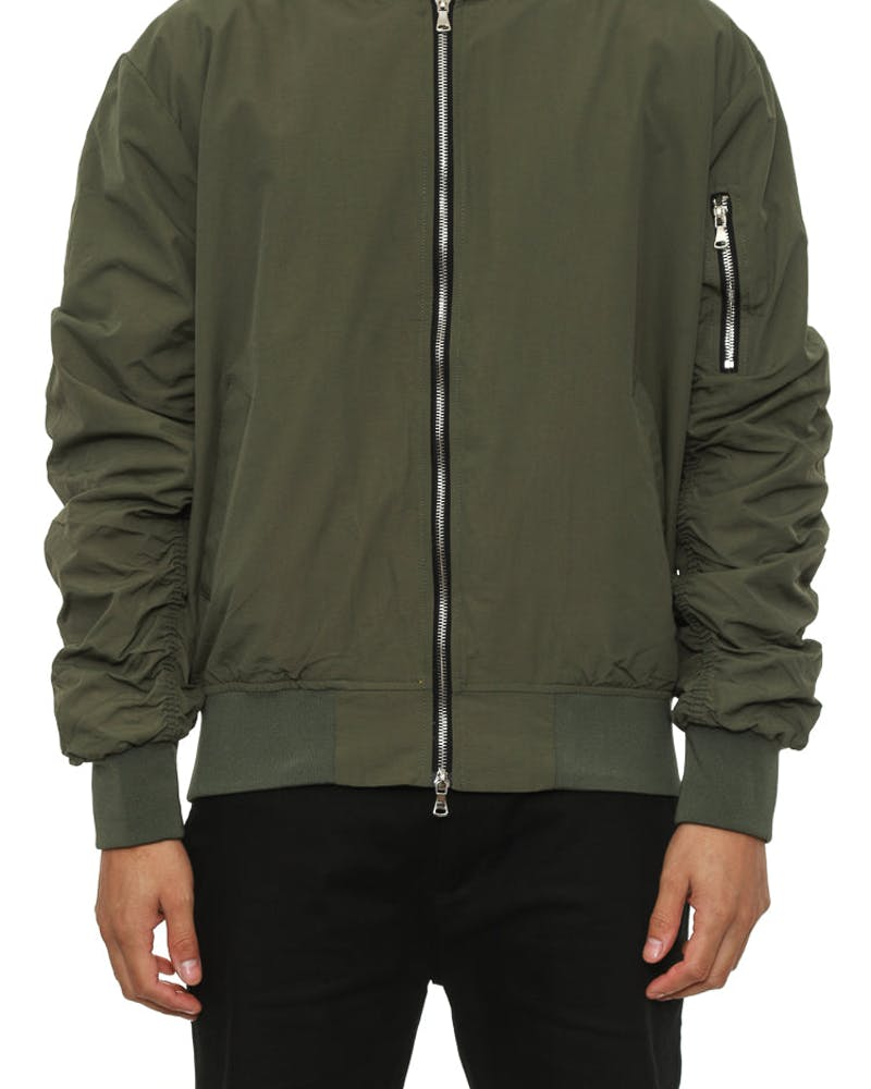 Bird Bomber Jacket Olive
