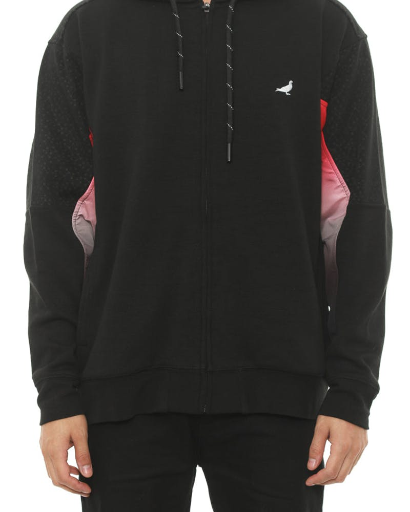Chromatic Zip Hood Black