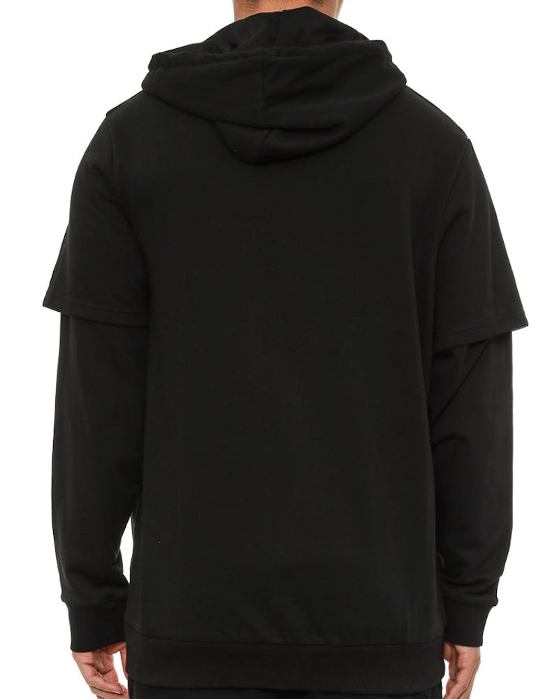 Zip Through Hoodie Black
