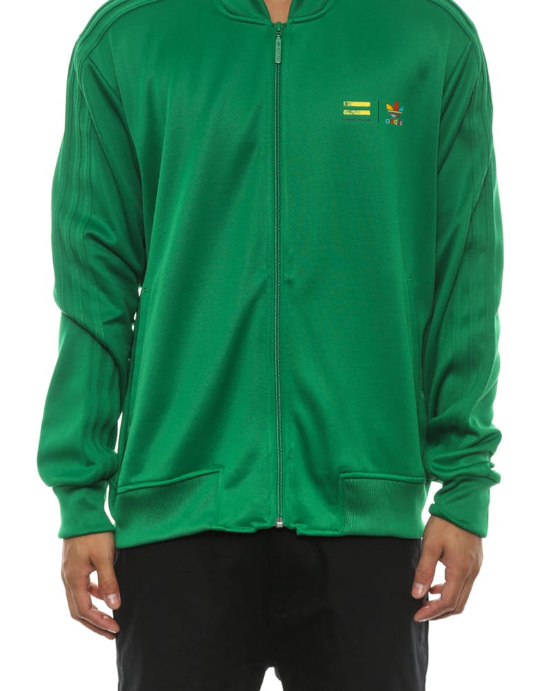 Mono Colour Track Top Green/white