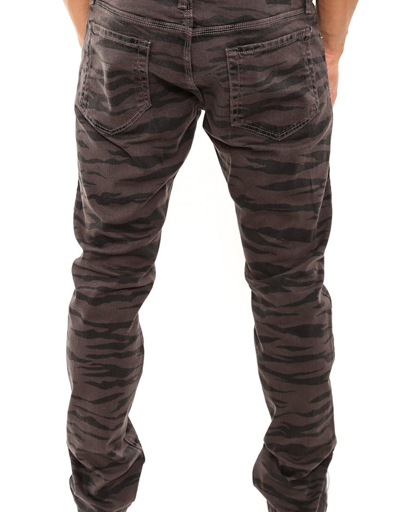Safari Camo Denim Jeans Charcoal