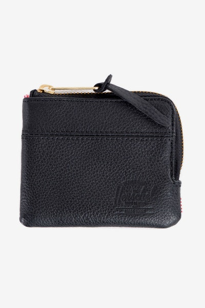 Herschel Bag CO Johnny Leather Wallet Black Pebble