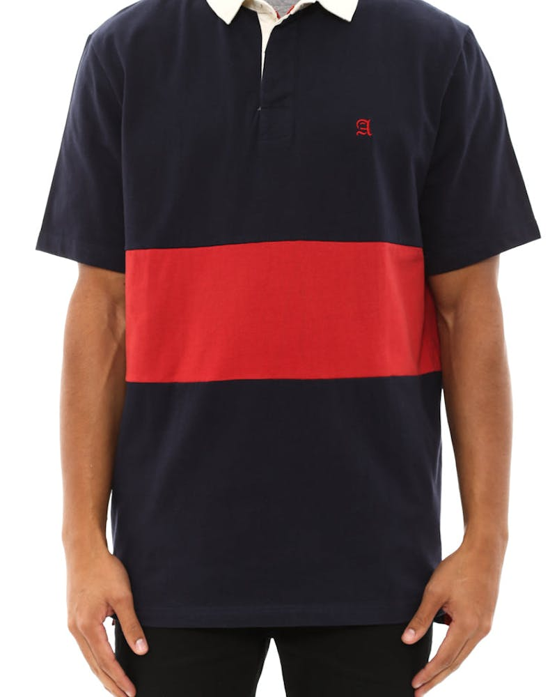 Club Polo Tee Navy/red