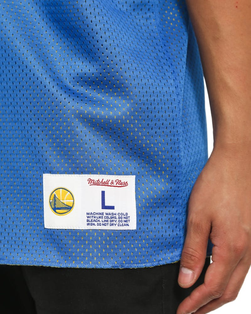 Warriors Logo/script Mesh Tank Navy/yellow