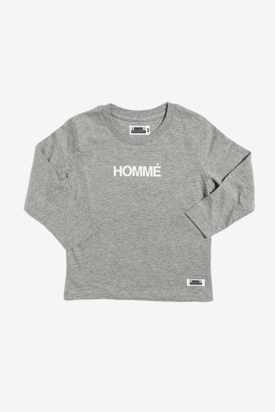 Homme Long Sleeve Tee Grey