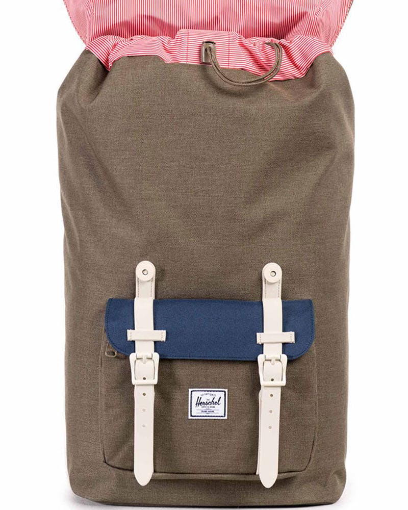 Little America Rubber Backpack Brown/navy/natu