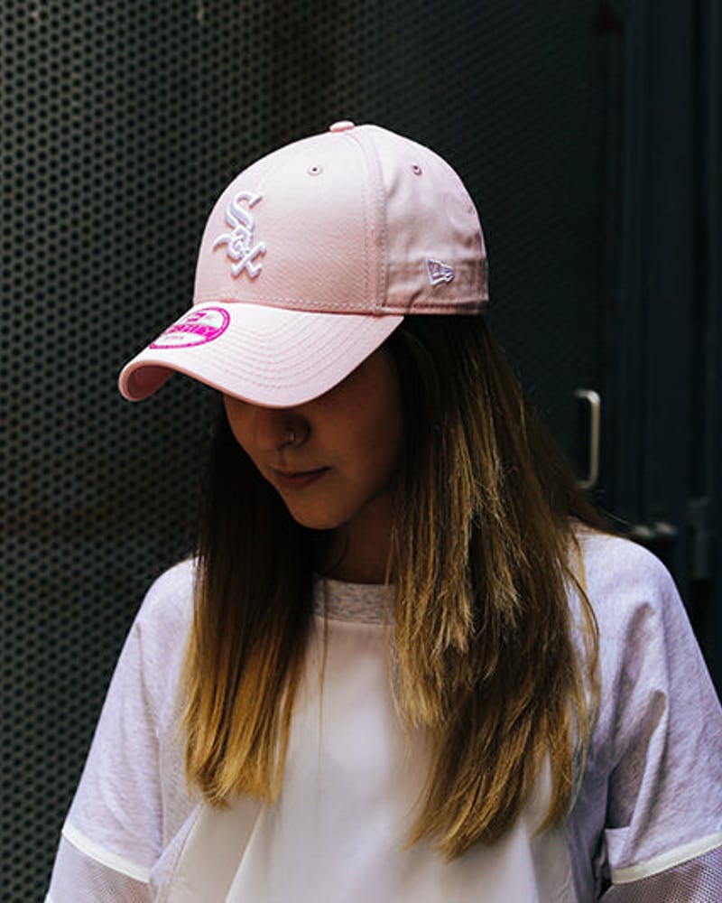 New Era Women's White Sox 9FORTY ST Pink