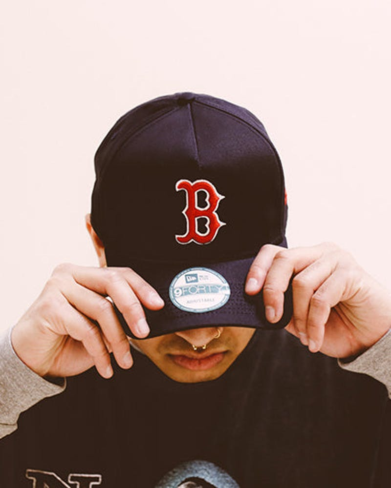 New Era Red Sox 9FORTY A-Frame Strapback Navy/red/white