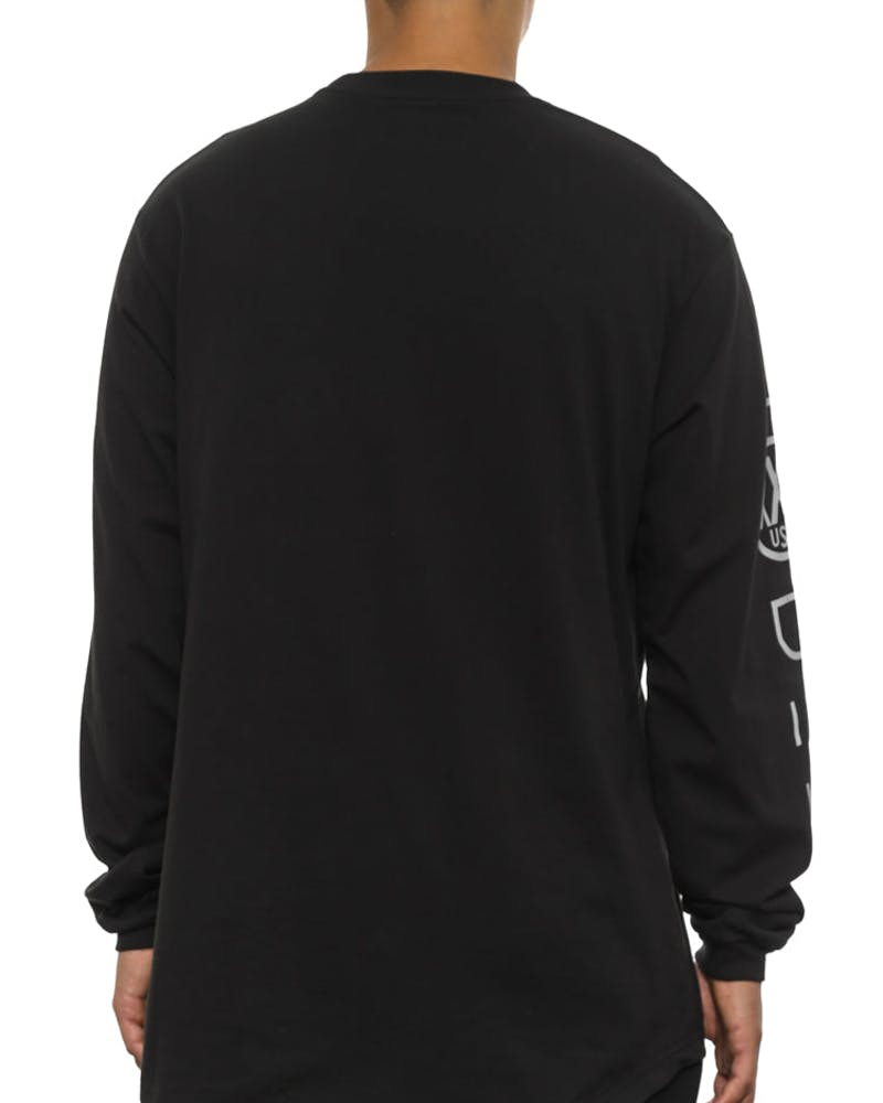 Integral Scoop Tail Long Sleeve Black