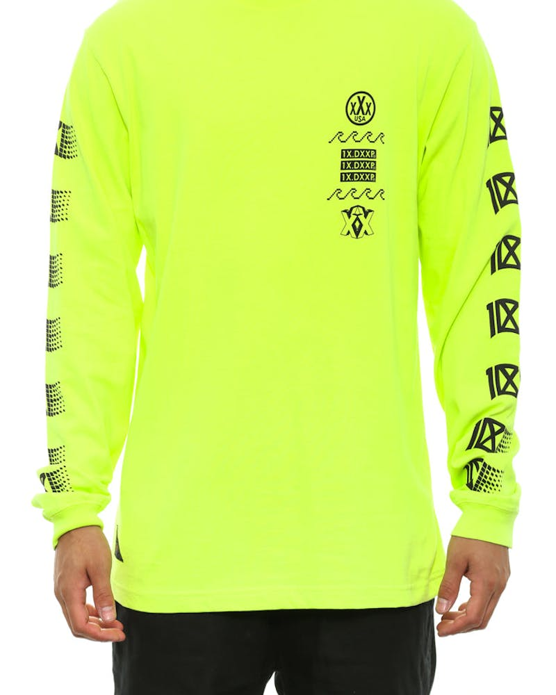 Wxrldwide W@ve Long Sleeve Tee Yellow/green/pi