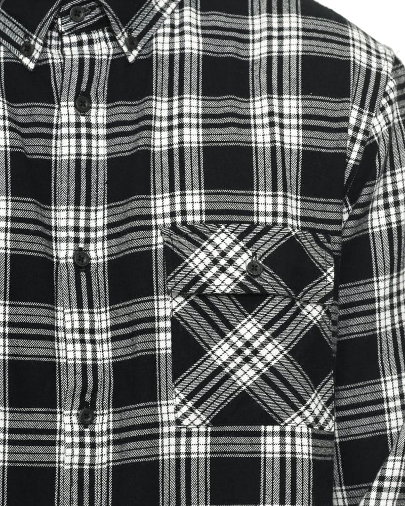 Carson Long Sleeve Button up Black/white