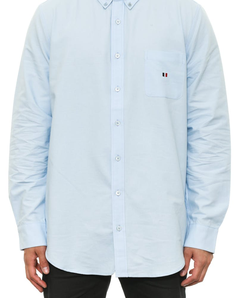 Oxford Button up L/sl Light Blue