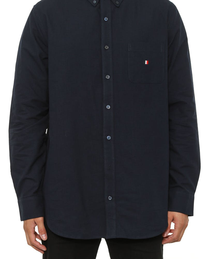 Oxford Button up L/sl Navy