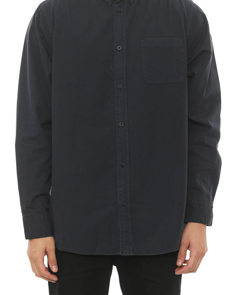 Aston Long Sleeve Button up Navy