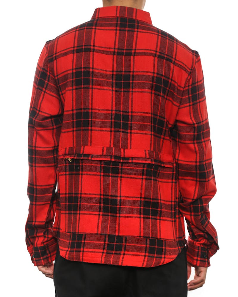 Engineers Button Up Red/black