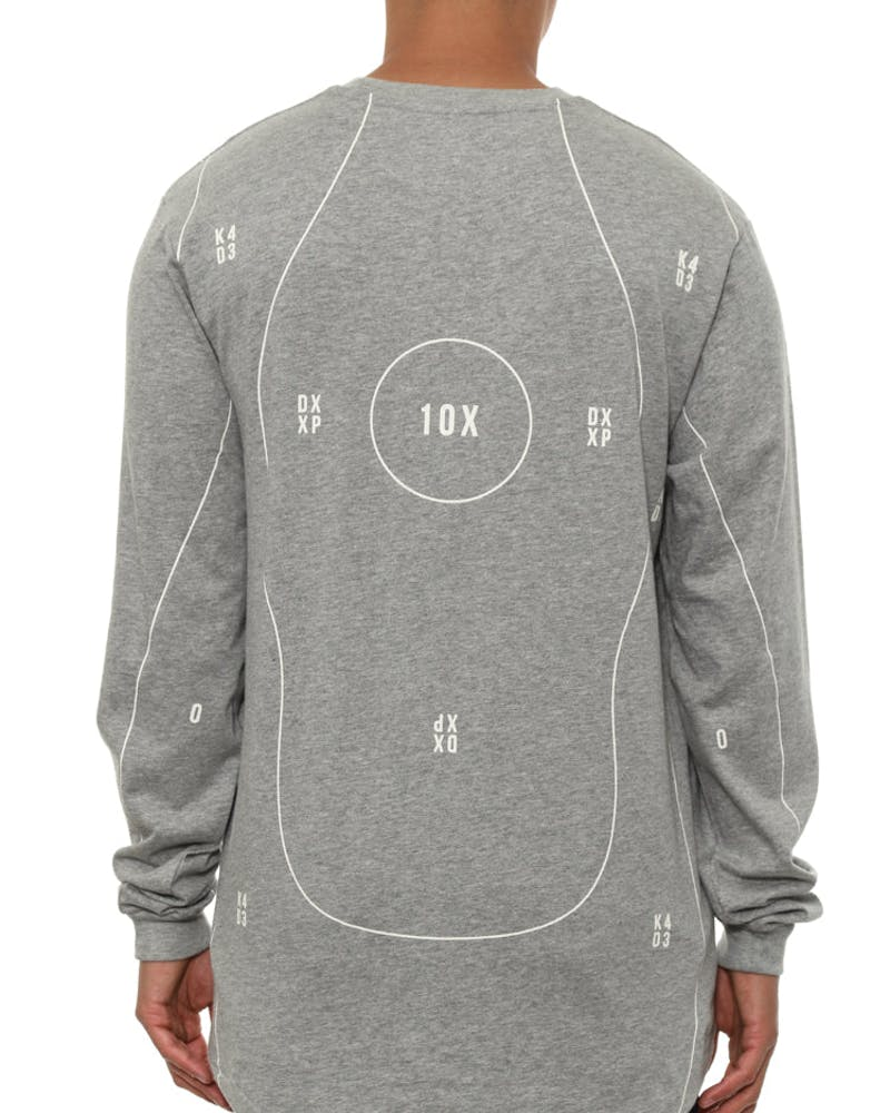 Targeted Long Sleeve Tee Grey