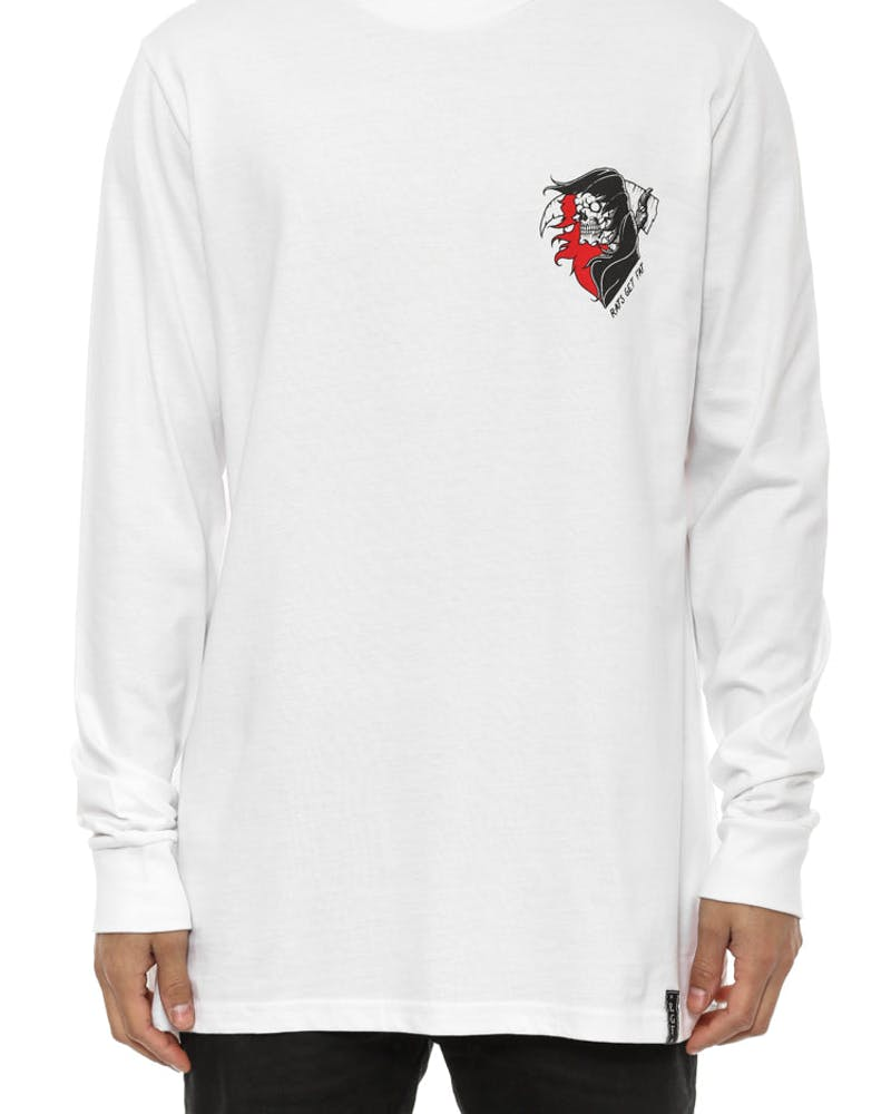 Rgf X MH Excuse Away Long Sleeve T White