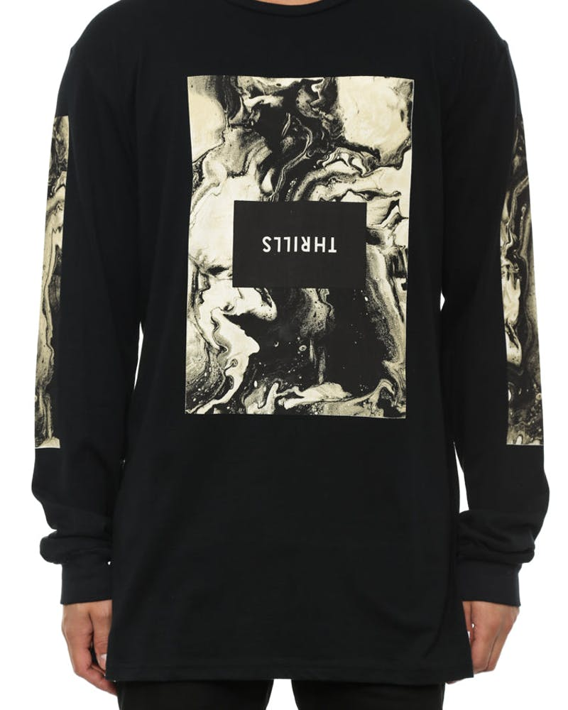 Marble Long Sleeve Tee Black