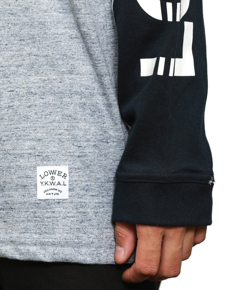 Circuit L/sleeve Tee Navy/white/grey