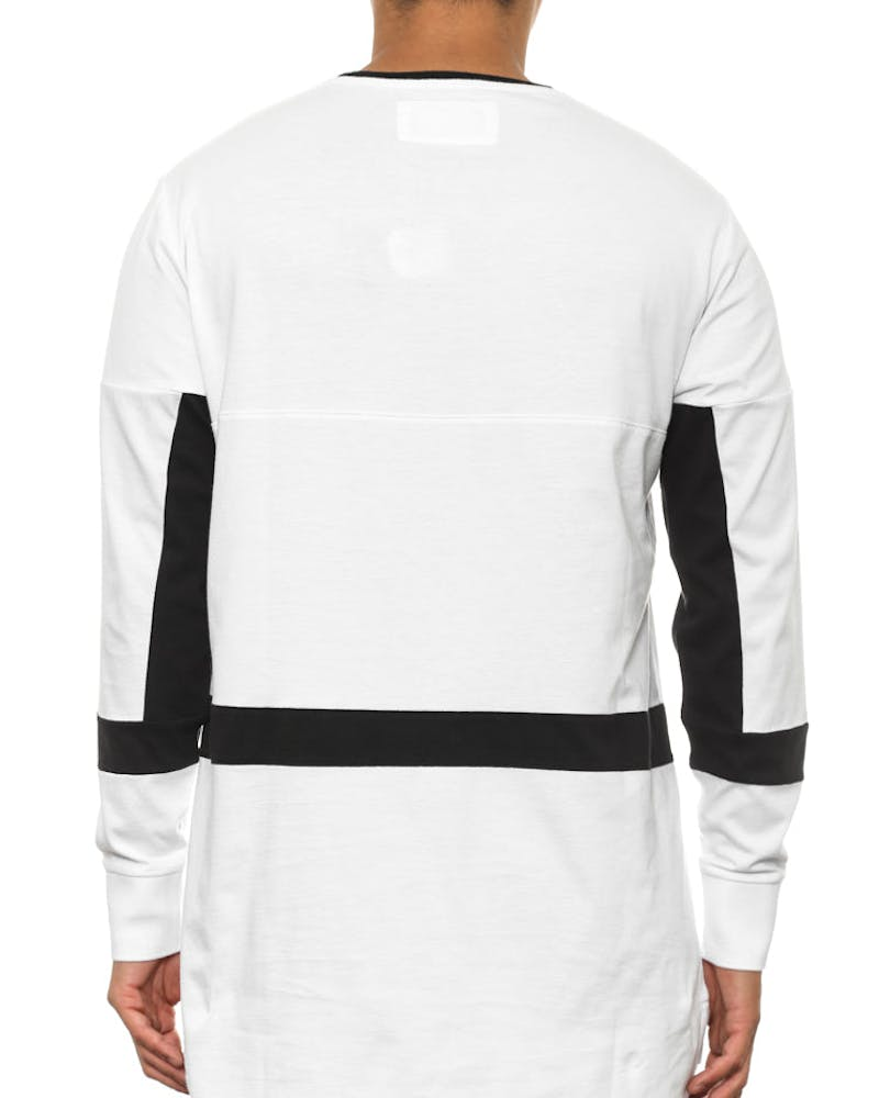 Broken Long Sleeve Flintlock Tee White/black