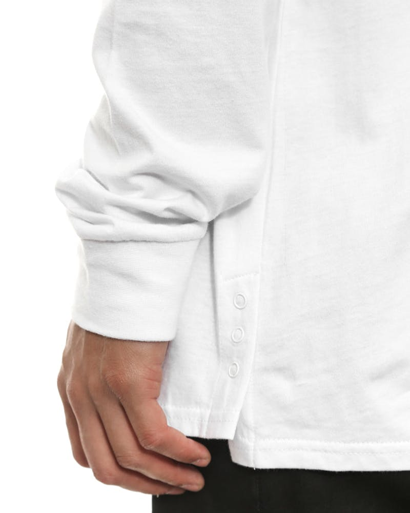 After Comp Long Sleeve Tee White