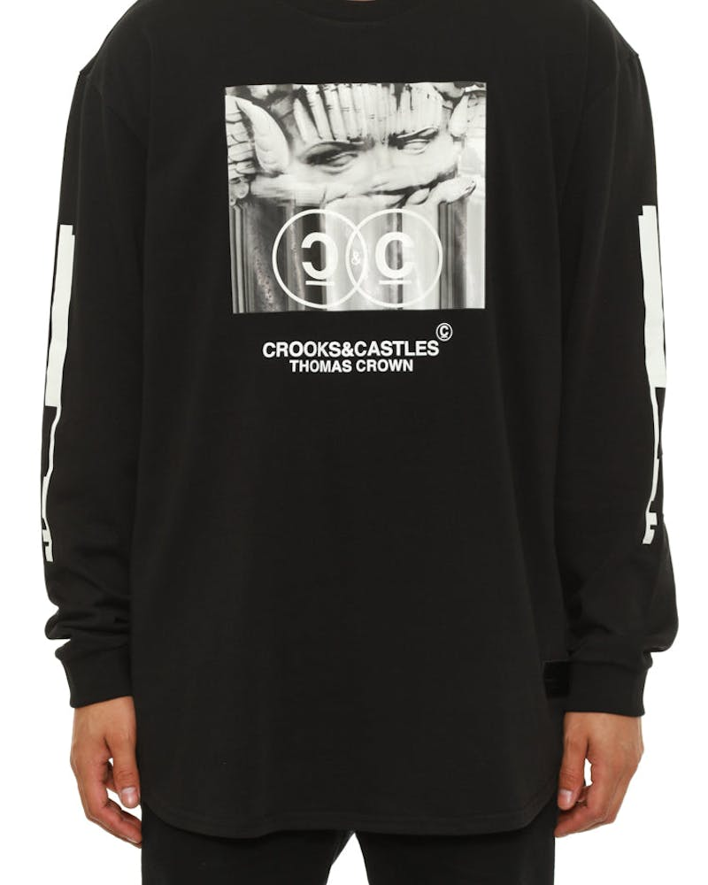 Swindle Long Sleeve Tee Black