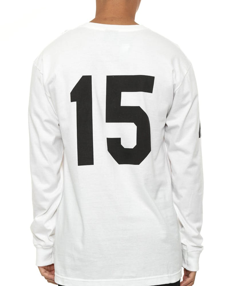 Soccer 15 Long Sleeve Tee White